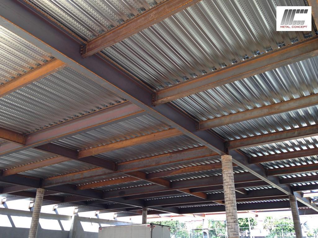 Estrutura met lica laje steel deck cobertura met lica for Concept home com